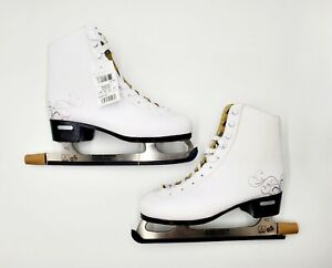 Bladerunner Solstice Women Size 9 White Ice Skating Figure Skates Blade Covers