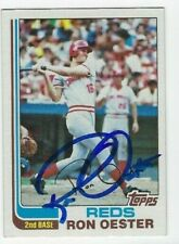 Ron Oester Autographed 1982 Topps Signed Baseball Card #427 Cincinnati Reds
