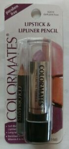 NEW COLORMATES LIPSTICK & LIPLINER PENCIL - DARK PINK FROST - **LOT DISCOUNT**