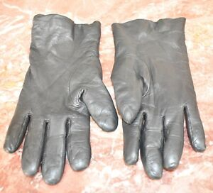 Black Leather Gloves w/100% Cashmere Lined