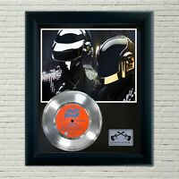 "Daft Punk ""Da Funk"" Framed 45 Silver Record Display"
