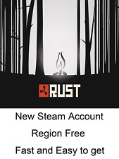 RUST Steam Account Global Region Free *Read Description*