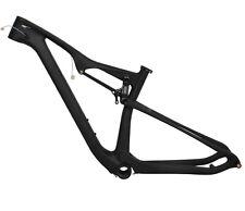 """29er Boost 15.5"""" Full Suspension Carbon Frame UD Matt Mountain Bike BB92 MTB"""