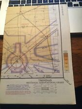 Vintage Trinidad Sectional Aeronautical Chart, 1967. 46th Edition