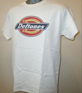 Deftones Workwear Inspired Logo T Shirt Rock Nu Metal Music White Pony Gore T173