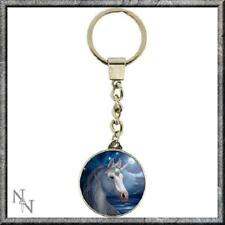 The Sacred One glass key ring Unicorn design by Lisa Parker gift Nemesis Now