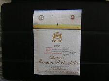 01 ETIQUETTE CHATEAU MOUTON ROTHSCHILD 1983 DECOLLEE