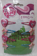 My Little Pony Amscan - Hasbro MLP Hair Clips Official Licensed 8 Clips Girls