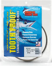 TOOTH PROOF AFW SINGLE STRAND STAINLESS STEEL LEADER FISHING WIRE Free Post