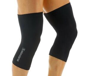 Giordana Cycling Knitted Dryarn Knee Warmers Black|BRAND NEW