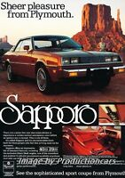 Classic Vintage Advertisement Ad D23 1980 Plymouth Sapporo Diagram