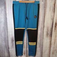 Hudson Outerwear Men's Track Pants - blue/yellow/black - XXL
