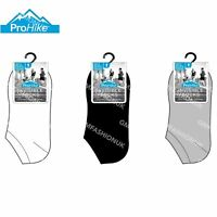 3 Pairs Mens Invisible Socks Trainer Shoe Liner Black White Grey Sock Size 6-11