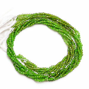 2 mm Natural Chrome Diopside Faceted Round Rondelle Beads 33 cm Strand AB-18