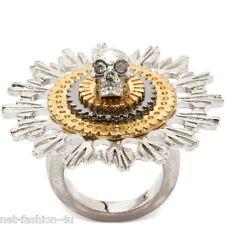 Alexander McQueen Teschio Fiore COCKTAIL RING IT 13 US 6.5 UK N NUOVO CON SCATOLA