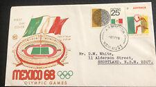 Australian Fdc Wcs 1968 Mexico 68 Olymy Games