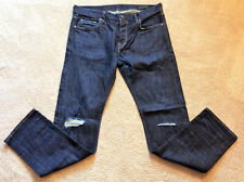 AllSaints Men's Button Fly Ripped Keiko Cigarette Fit Skinny Jeans Sz 34x31