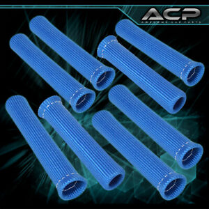 For Chevy 8 Piece Spark Plug Wire Protect Boot Heat Sheild Insulator N/A Blue