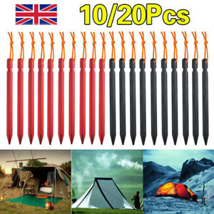 20X Heavy Duty Tent Pegs Aluminium Ground Metal Stakes Long Lightweight Camping