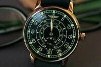 NOS POBEDA ZIM Vintage Men's Military watch Pilot Mechanical Soviet watches