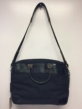 NWT New Mens Billykirk Black Leather And Canvas Briefcase 300 BWX Handmade USA