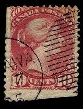 1877 CANADA #40 MONTREAL & OTTAWA PRINTING - USED - FINE - CV$42.50 (ESP#2291)