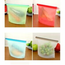 Kitchen Reusable Silicone Food Storage Bags Includes Extra Hook Holes, BPA Free