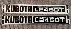 "KUBOTA L245DT Reproduction Hood Decal Set  (19.00"" Length)"