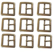 Lot 9 Center bar 1.5'' Belt Buckles Basic Solid Brass Snap Belt Strap Leather