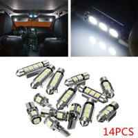 14 pcs White Interior LED Light Kit For Universal Car License Trunk Light Lamp