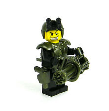 custom LEGO(R) Army Soldier Heavy Assault Trooper Minifigure with minigun