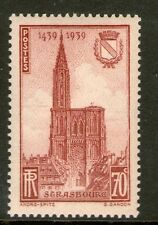 TIMBRE N° 443 NEUF ** GOMME ORIGINALE - CATHEDRALE DE STRASBOURG