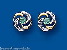 Emerald Tachuelas Emerald Pendientes Oro Amarillo Esmeralda Pendientes