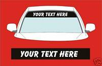CUSTOM SUN STRIP TO FIT SEAT CARS JUST ADD YOUR TEXT DECALS GRAPHICS STICKERS