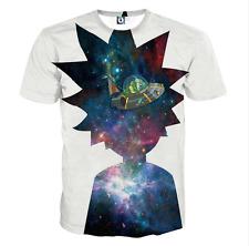 New Fashion Womens/Mens Cartoon Rick and Morty Funny 3D Print T-Shirt JK24