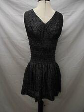 Genuine Vintage 80s/90s Black Sparkly Gigi Lurex Dress Size 38