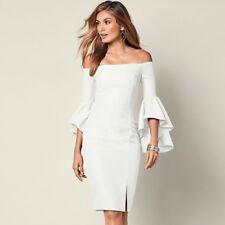 Venus Sleeve Detail Dress White Size 14 NWT