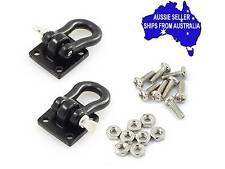 2 X BLACK Towing hooks,Shackles, D bolts for 1:10 RC suit Axial Tamiya TRAXXAS
