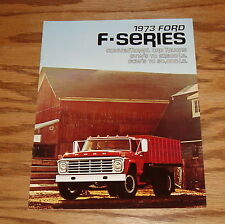Original 1973 Ford Truck F-Series Sales Brochure 73 Crew Conventional Cab