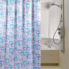 Shower Curtain Bathroom Waterproof PEVA Mold Polyester Fabric Pattern & Hooks