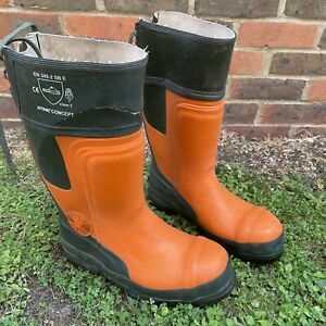 STIHL Cut Protection Boots Rubber Boots Chainsaw Boots Class 2 Size UK 9 EU 43