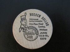 WOODEN DOLLAR 19th Annual NUMISMATIC SOCIETY 1975 CONVENTION Lansing, Michigan
