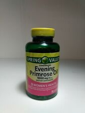 Spring Valley Evening Primrose oil 1000mg dietary supplement 75 softgels