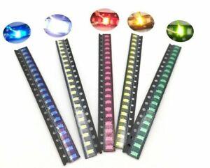 100pcs SMD 0402 0603 805 1206 LED lights /choose color and light   USA ship/sold