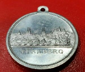 Nurnberg 1906 Unc City View Aluminum Medal Germany  German State