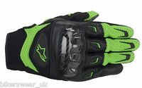 Alpinestars  SMX 2 SMX-2 AIR CARBON Short SUMMER Motorcycle Gloves - Green
