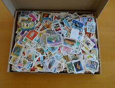 800 gramm Briefmarken papierfrei - papierfreie Kiloware - viele Motive