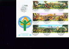 1996 Large Combo UN FDC - All 3 Offices on One Cover - City Summit