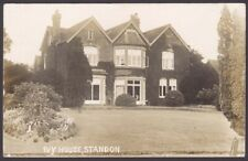 More details for standon, staffordshire. ivy house, standon. 1907 postmark real photo postcard