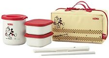 THERMOS Thermal insulation lunch box Disney Mickey red white DBQ - 252DS R - WH